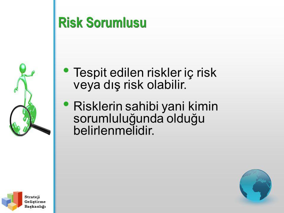 Tespit edilen riskler iç risk veya dış risk olabilir.