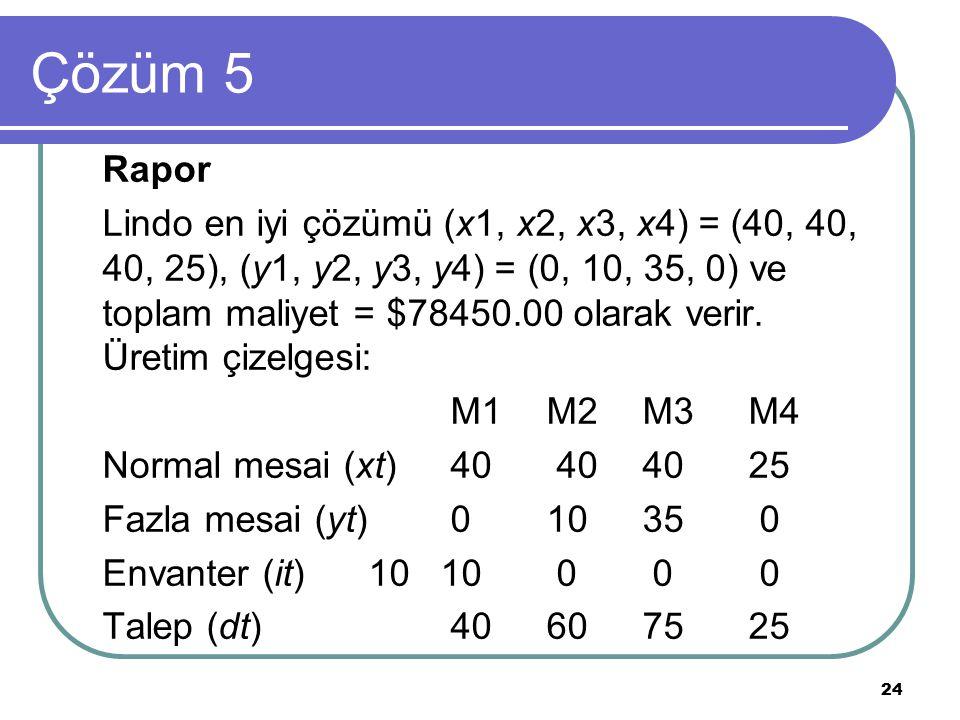 Çözüm 5 Rapor.