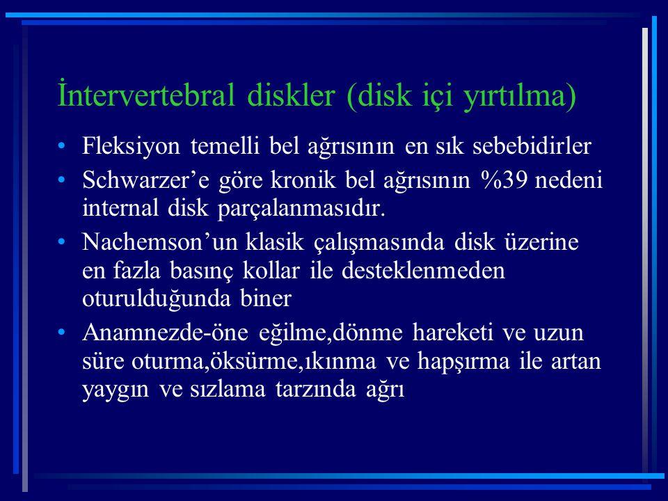 İntervertebral diskler (disk içi yırtılma)