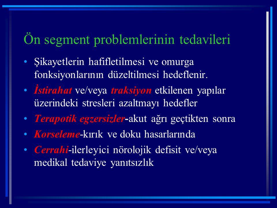 Ön segment problemlerinin tedavileri