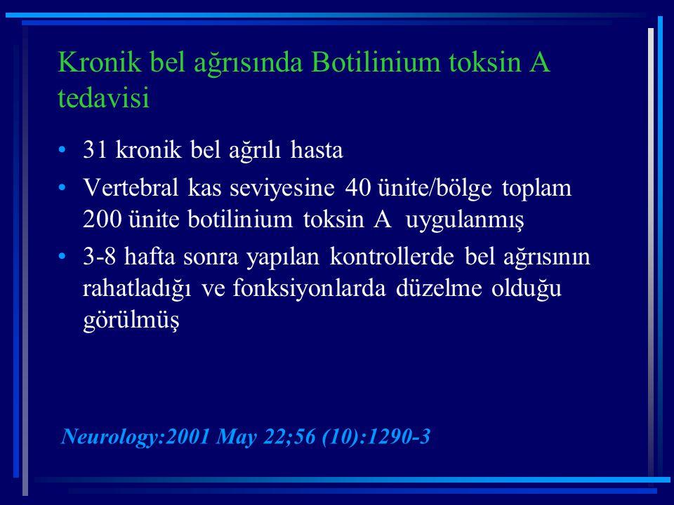 Kronik bel ağrısında Botilinium toksin A tedavisi