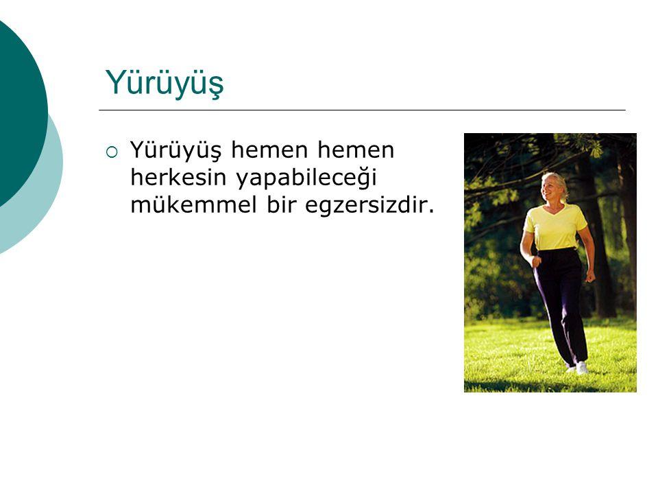 Yürüyüş Yürüyüş hemen hemen herkesin yapabileceği mükemmel bir egzersizdir.