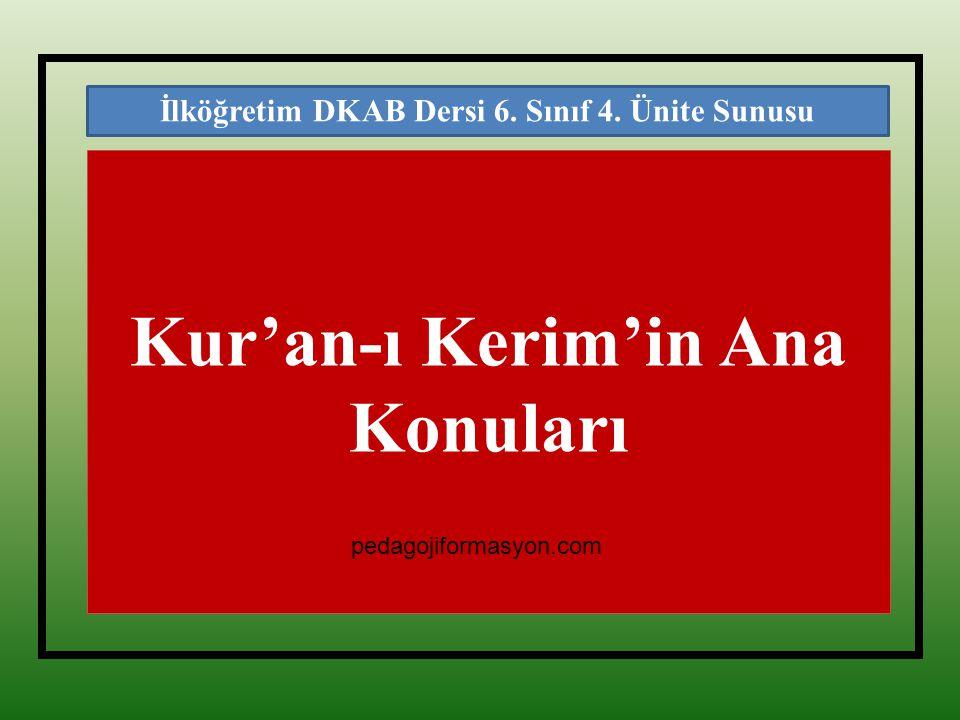 Kur'an-ı Kerim'in Ana Konuları