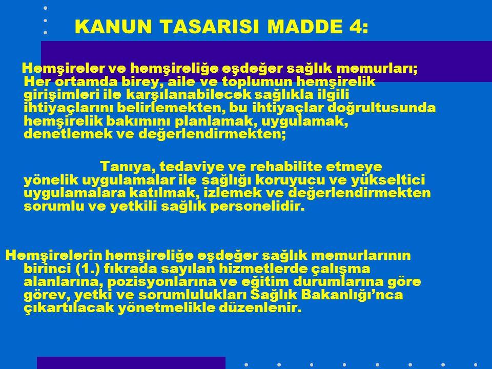 KANUN TASARISI MADDE 4: