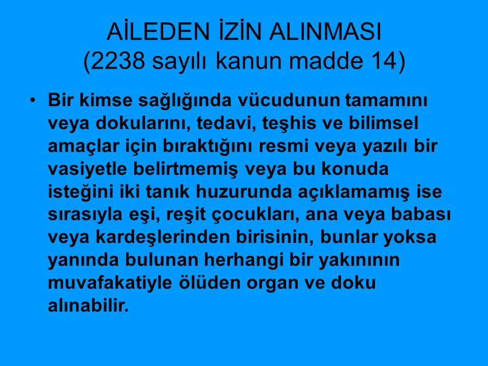 AİLEDEN İZİN ALINMASI (2238 sayılı kanun madde 14)