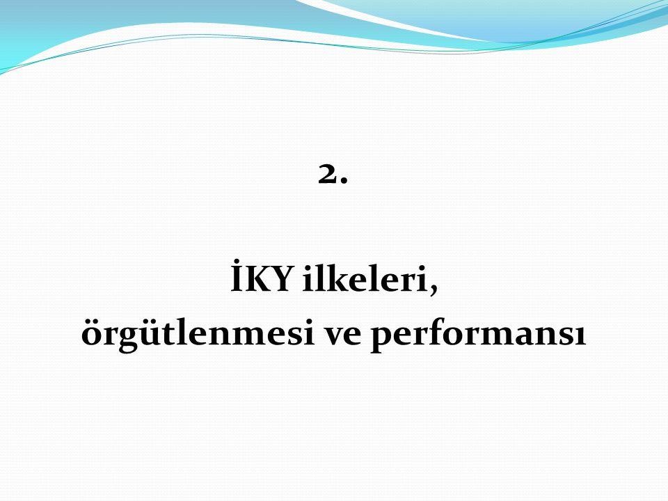 örgütlenmesi ve performansı