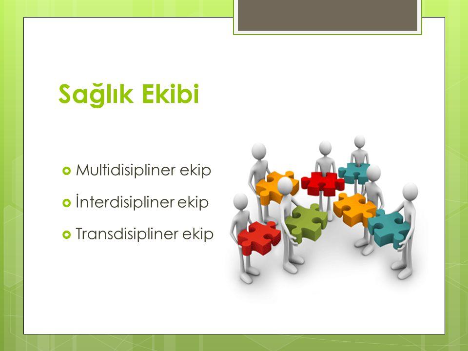 Sağlık Ekibi Multidisipliner ekip İnterdisipliner ekip