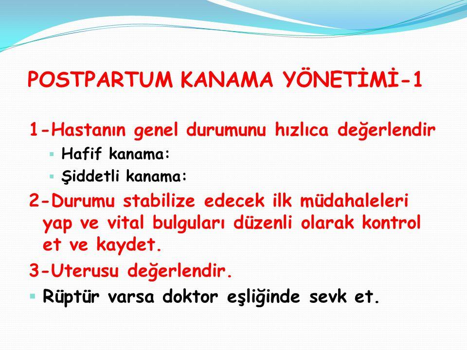 POSTPARTUM KANAMA YÖNETİMİ-1