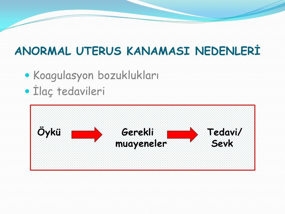ANORMAL UTERUS KANAMASI NEDENLERİ