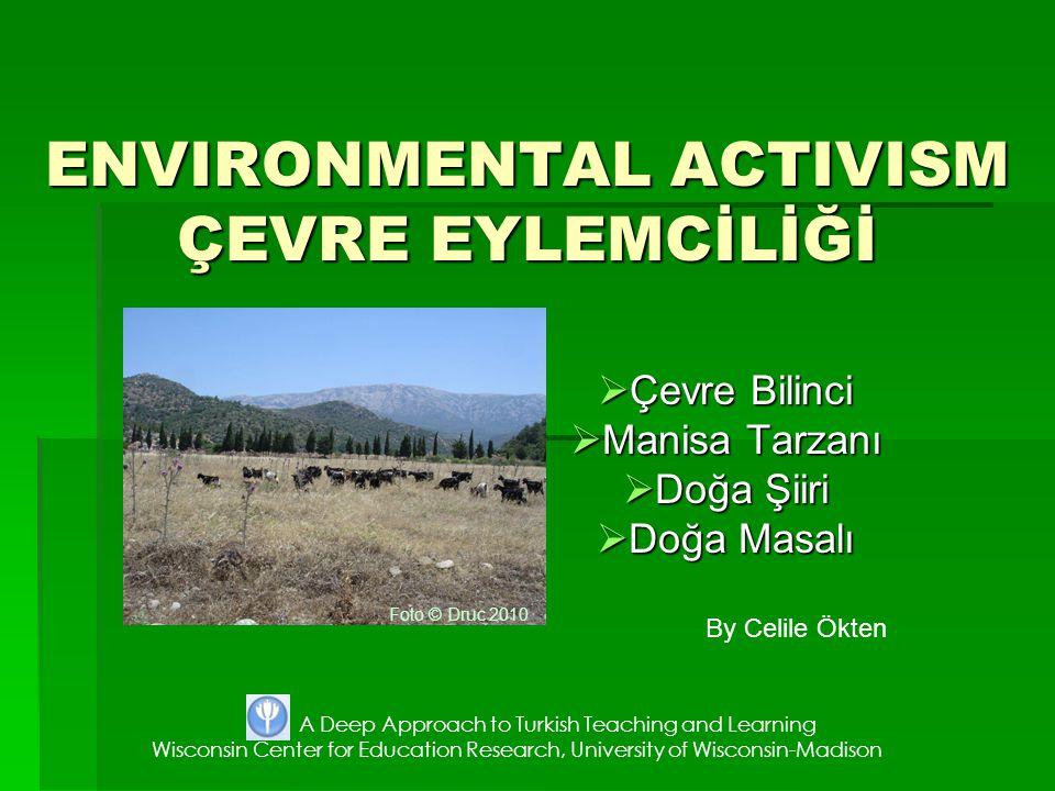 ENVIRONMENTAL ACTIVISM ÇEVRE EYLEMCİLİĞİ
