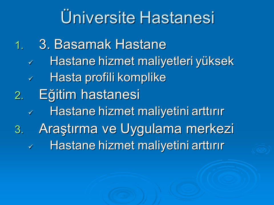 Üniversite Hastanesi 3. Basamak Hastane Eğitim hastanesi
