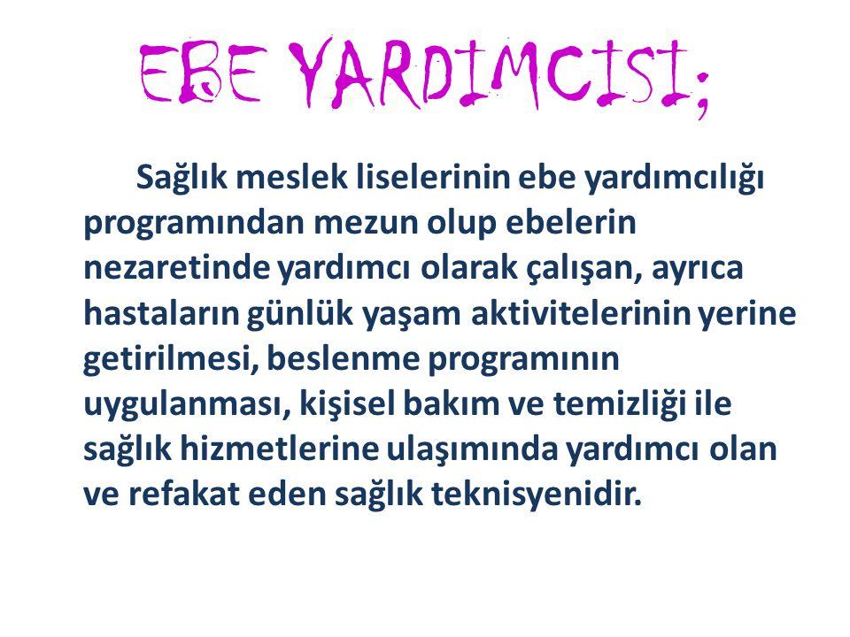 EBE YARDIMCISI;
