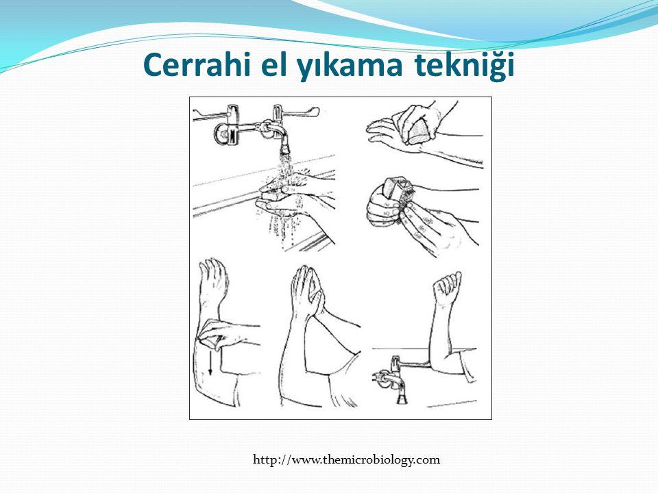 Cerrahi el yıkama tekniği
