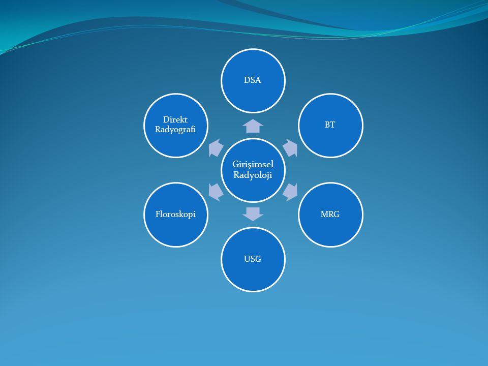 Girişimsel Radyoloji DSA BT MRG USG Floroskopi Direkt Radyografi