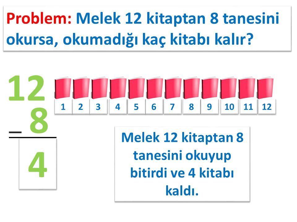 Melek 12 kitaptan 8 tanesini okuyup bitirdi ve 4 kitabı kaldı.