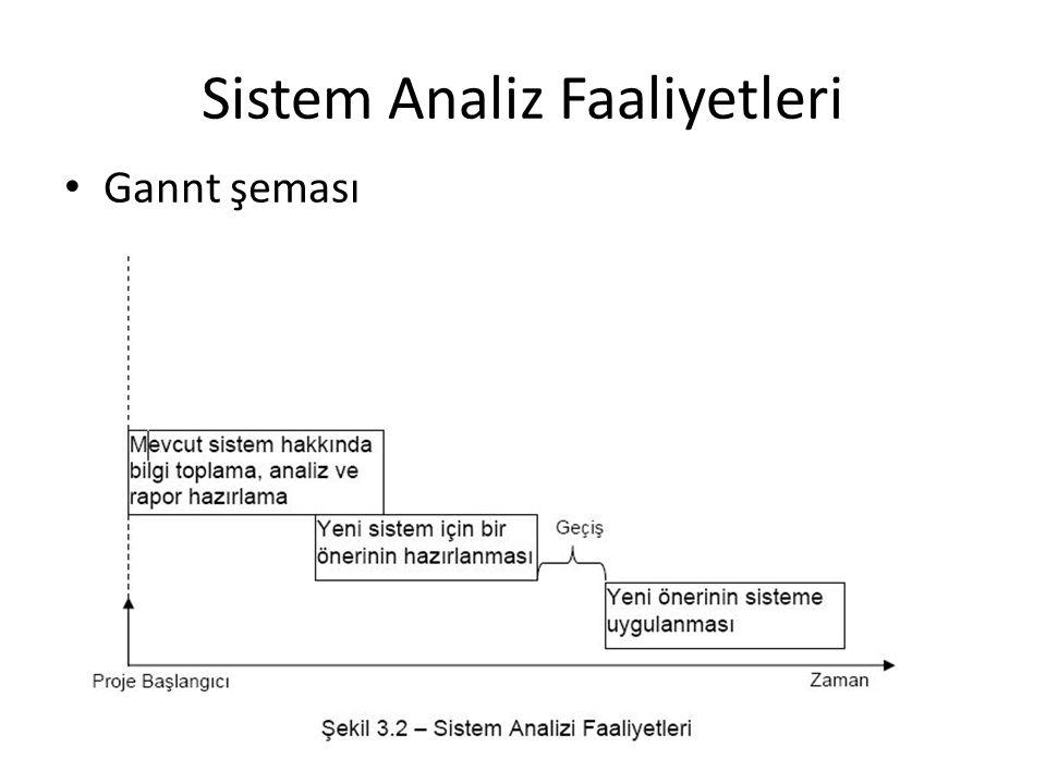 Sistem Analiz Faaliyetleri