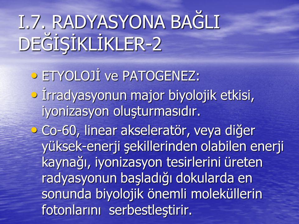 I.7. RADYASYONA BAĞLI DEĞİŞİKLİKLER-2