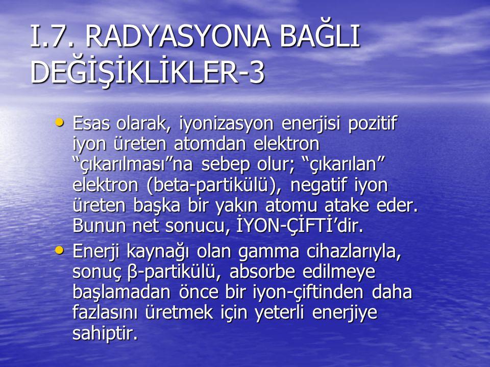 I.7. RADYASYONA BAĞLI DEĞİŞİKLİKLER-3