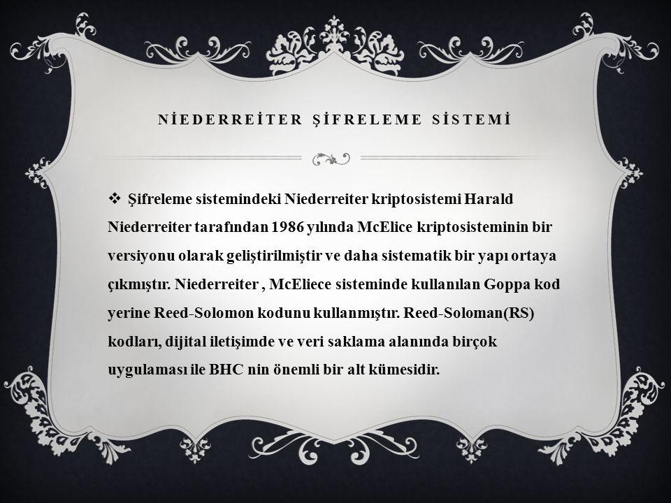 NİEDERREİTER ŞİFRELEME SİSTEMİ