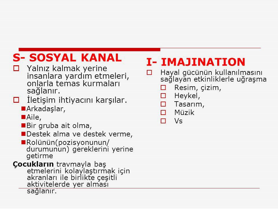 S- SOSYAL KANAL I- IMAJINATION