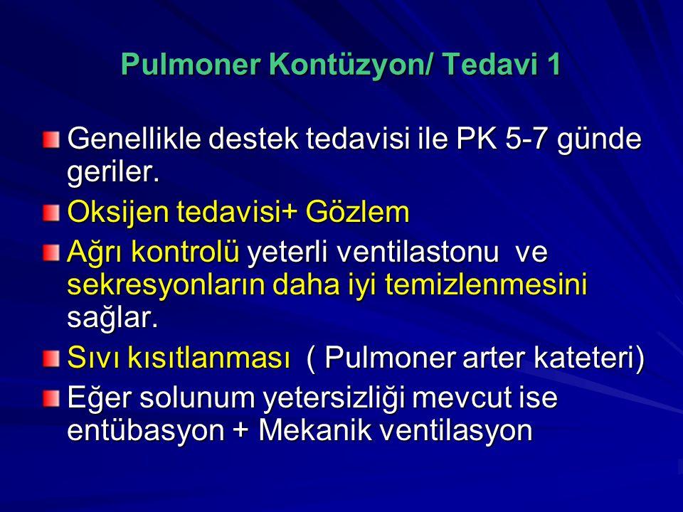 Pulmoner Kontüzyon/ Tedavi 1