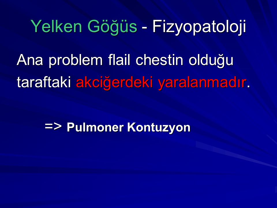 Yelken Göğüs - Fizyopatoloji