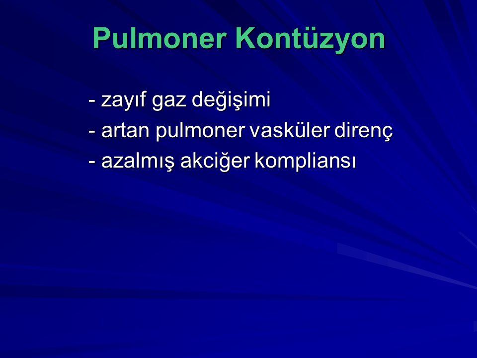 Pulmoner Kontüzyon - zayıf gaz değişimi