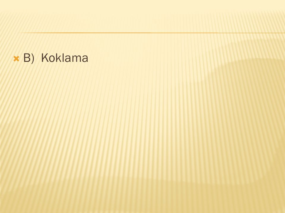 B) Koklama