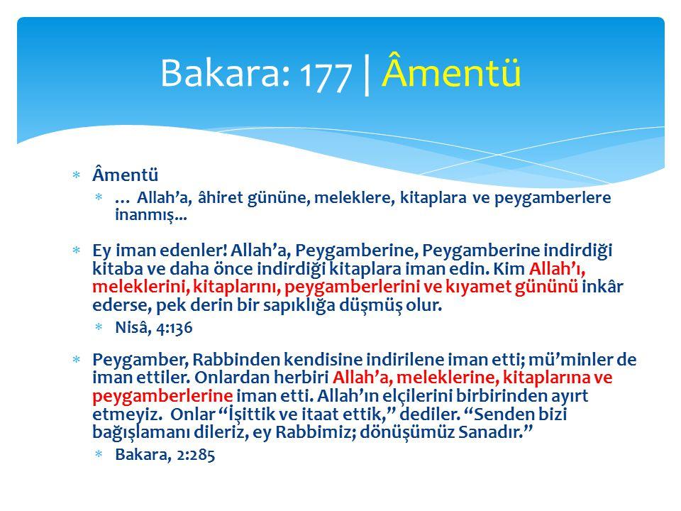 Bakara: 177 | Âmentü Âmentü