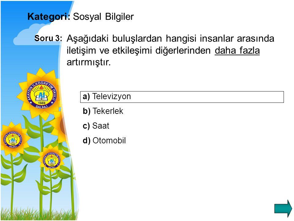 Kategori: Sosyal Bilgiler
