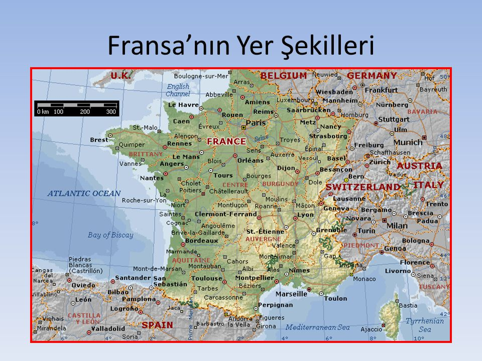 Fransa'nın Yer Şekilleri