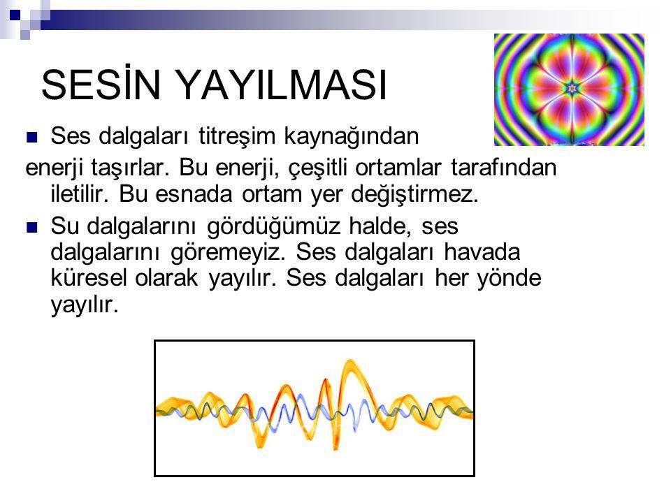 SESİN YAYILMASI Ses dalgaları titreşim kaynağından