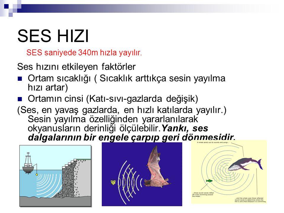 SES HIZI Ses hızını etkileyen faktörler
