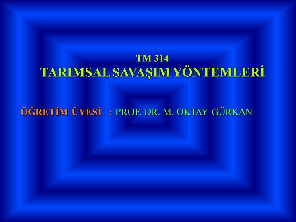 TARIMSAL SAVAŞIM YÖNTEMLERİ