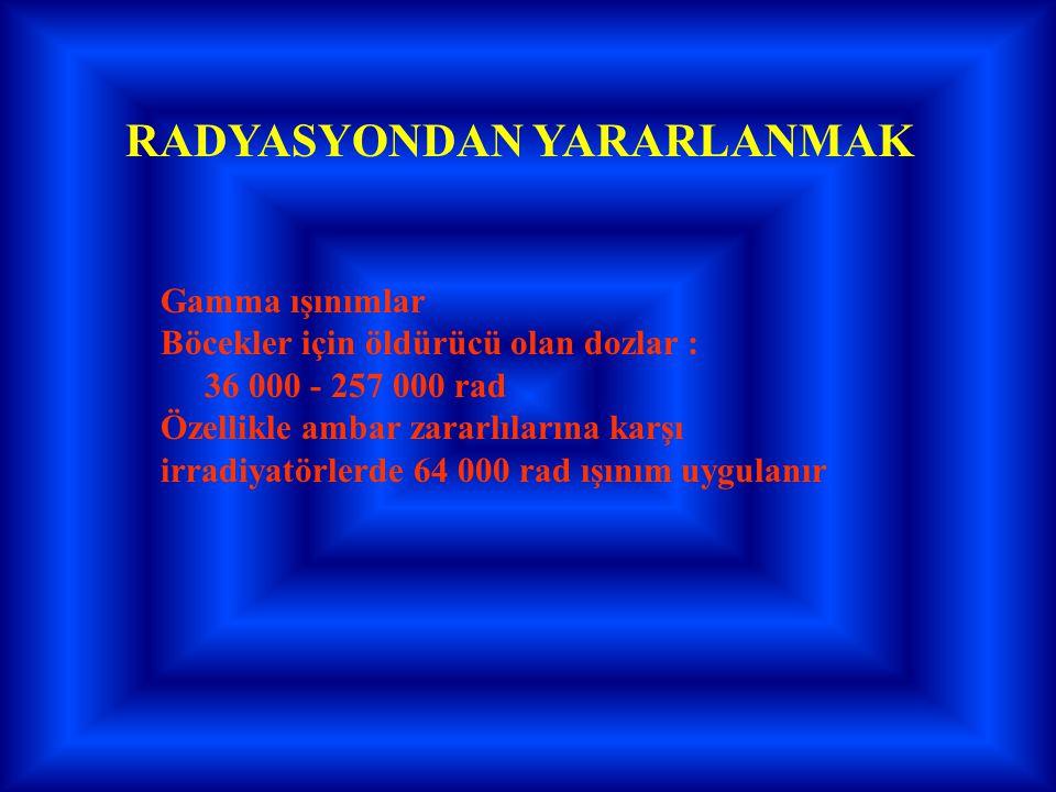 RADYASYONDAN YARARLANMAK