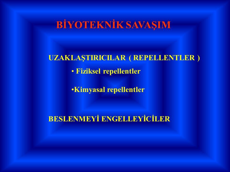BİYOTEKNİK SAVAŞIM UZAKLAŞTIRICILAR ( REPELLENTLER )