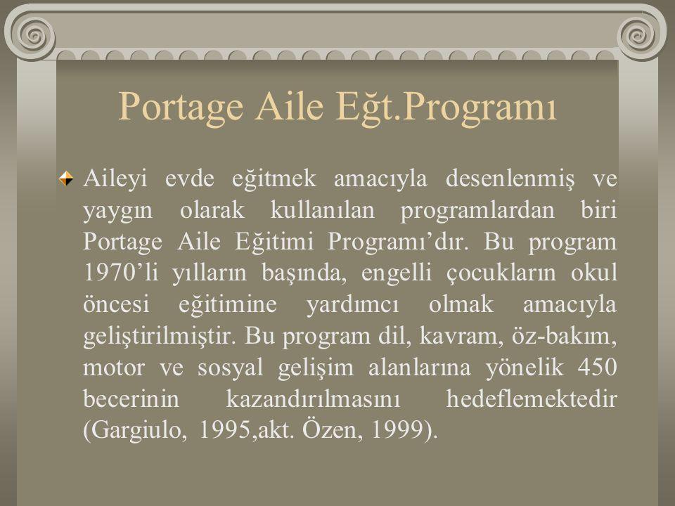 Portage Aile Eğt.Programı