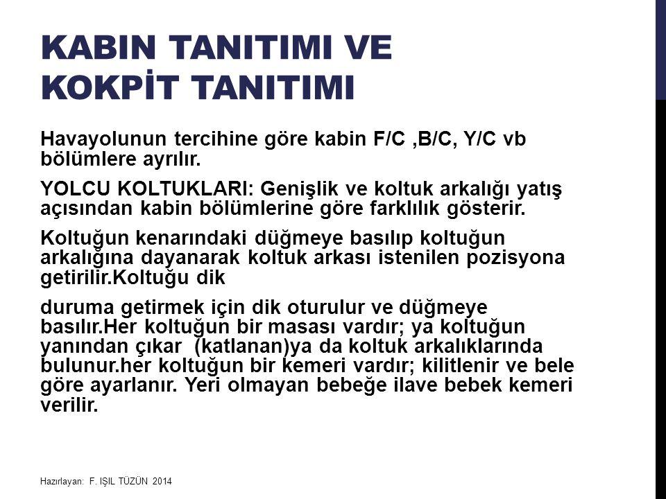 kABIN TANITIMI ve KOKPİT TANITIMI