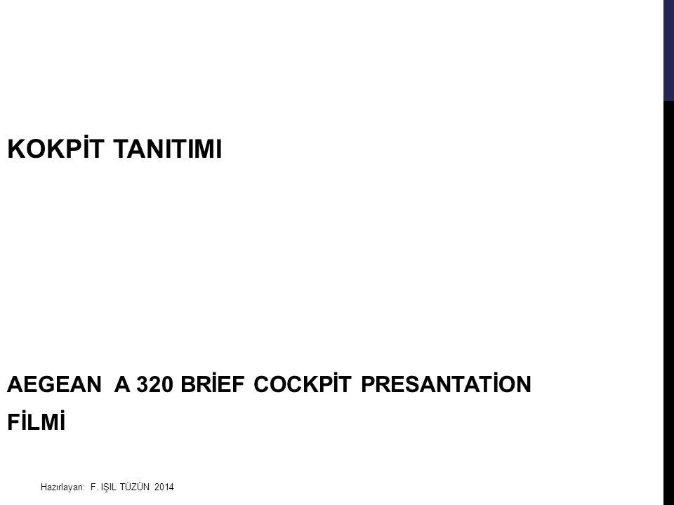 KOKPİT TANITIMI AEGEAN A 320 BRİEF COCKPİT PRESANTATİON FİLMİ