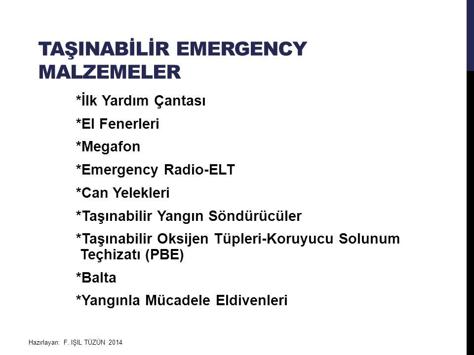 Taşinabİlİr emergency malzemeler