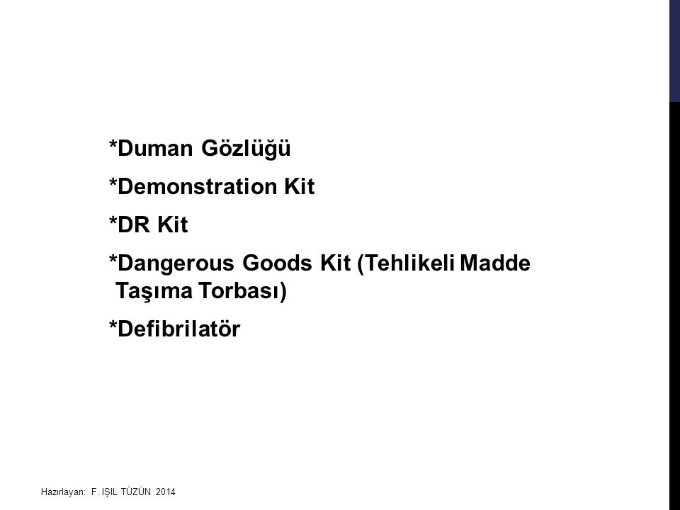 Duman Gözlüğü. Demonstration Kit. DR Kit