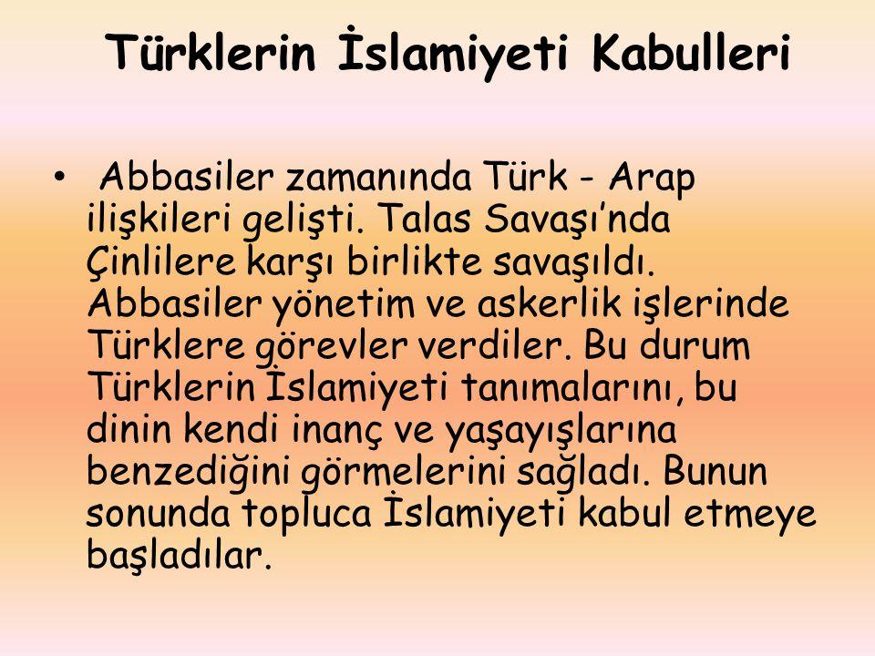 Türklerin İslamiyeti Kabulleri
