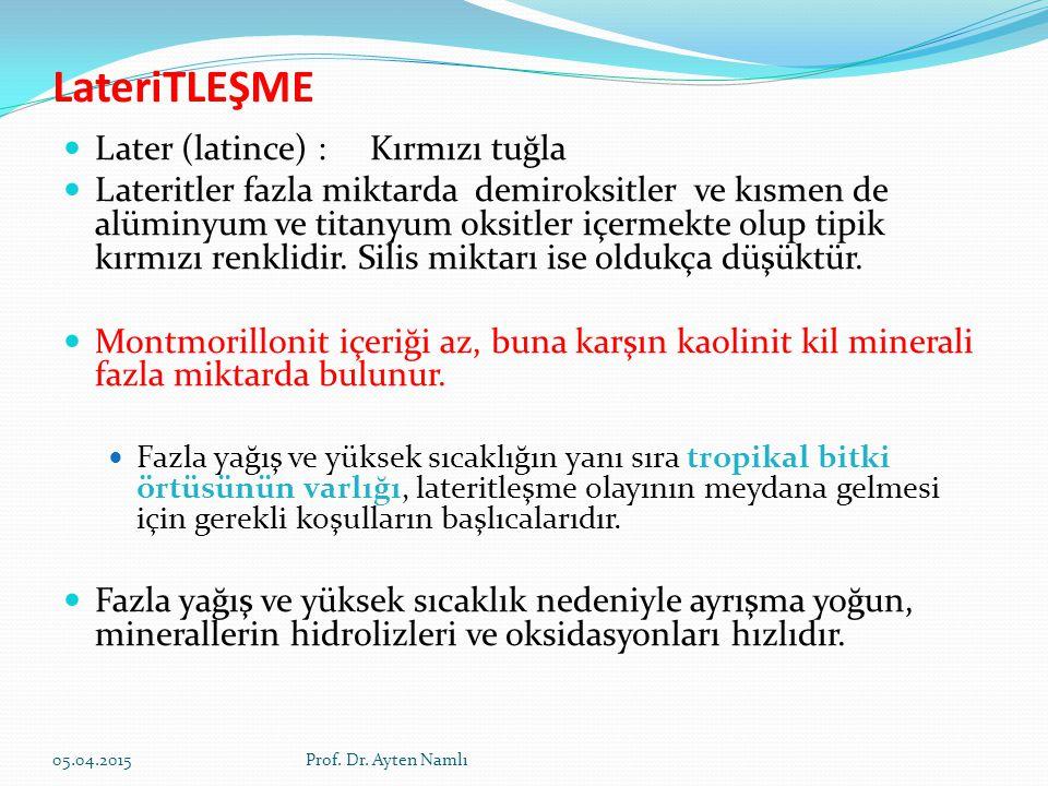 LateriTLEŞME Later (latince) : Kırmızı tuğla