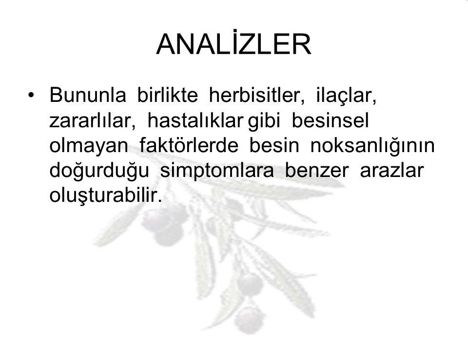 ANALİZLER