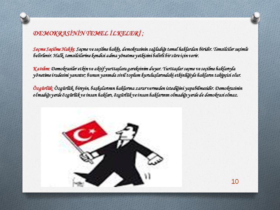 DEMOKRASİNİN TEMEL İLKELERİ ;