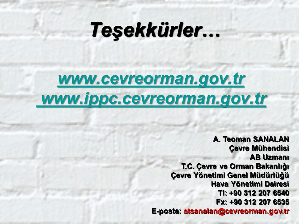 www.cevreorman.gov.tr www.ippc.cevreorman.gov.tr