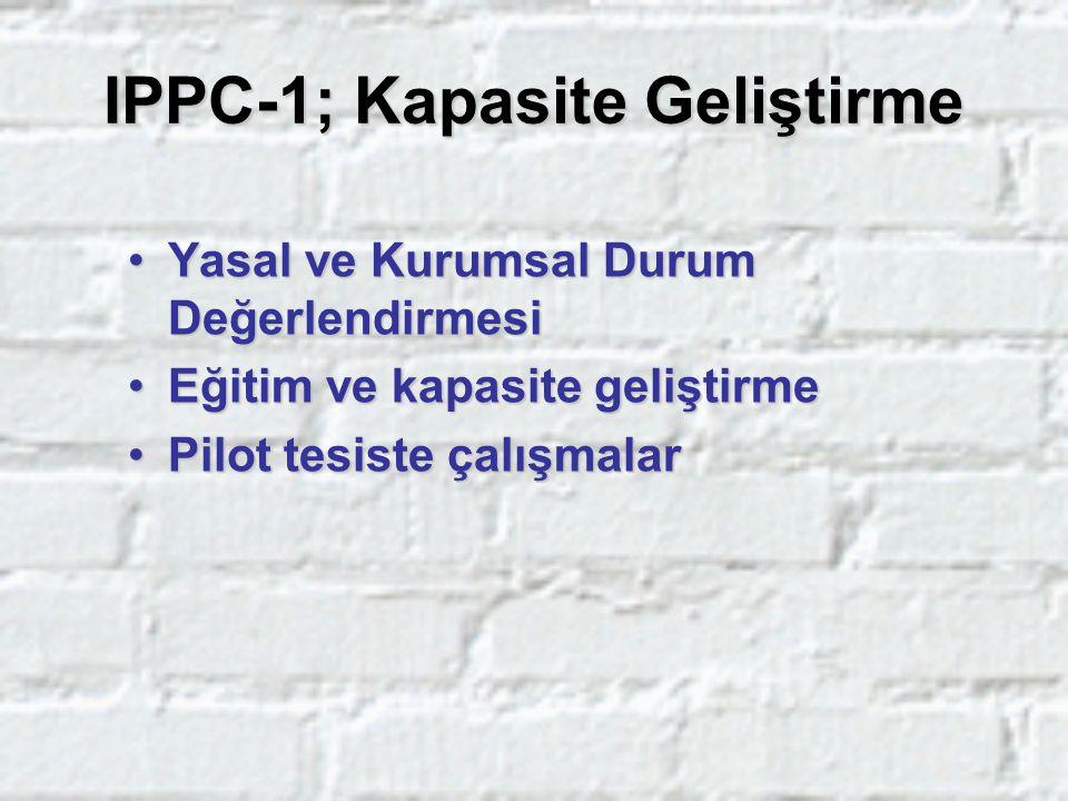 IPPC-1; Kapasite Geliştirme