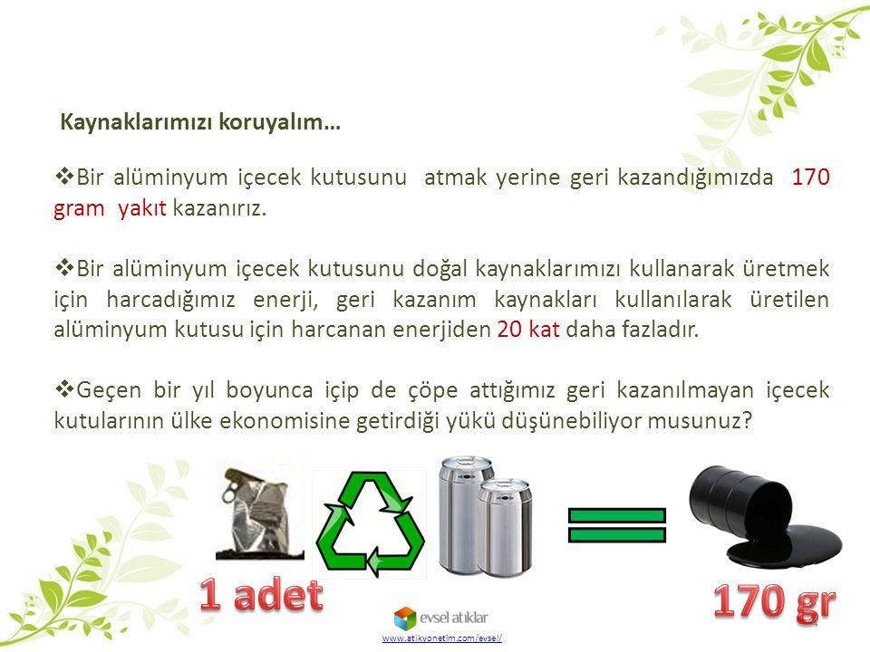 1 adet 170 gr Kaynaklarımızı koruyalım…