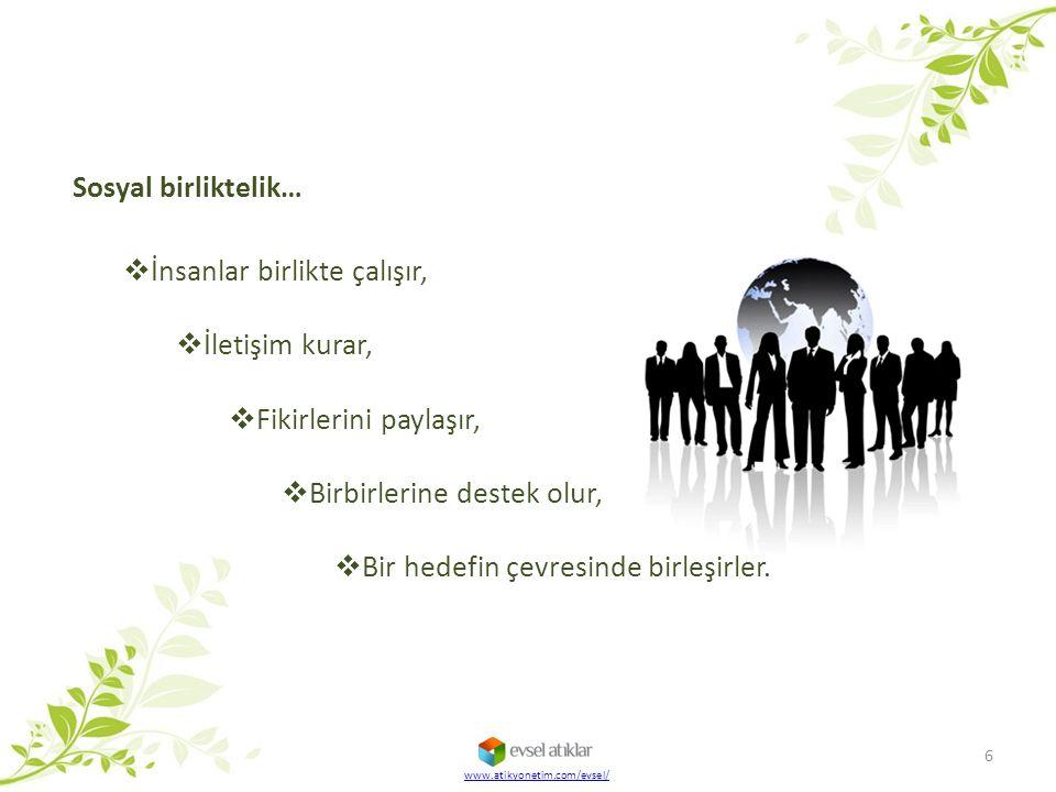 İnsanlar birlikte çalışır, İletişim kurar, Fikirlerini paylaşır,