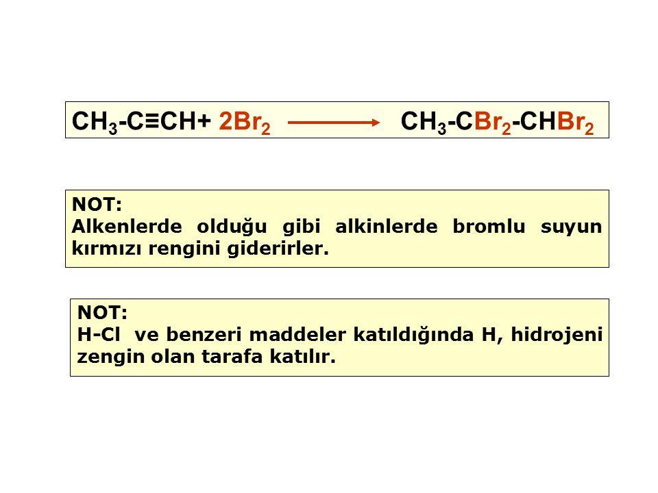 CH3-C≡CH+ 2Br2 CH3-CBr2-CHBr2